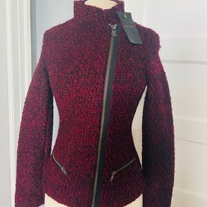 NET Madison Scotch Boucle Wool Jacket